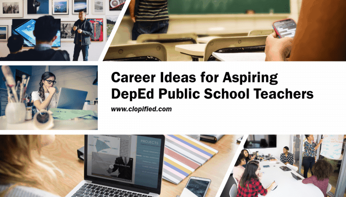Career Ideas for Aspiring DepEd Public School Teachers