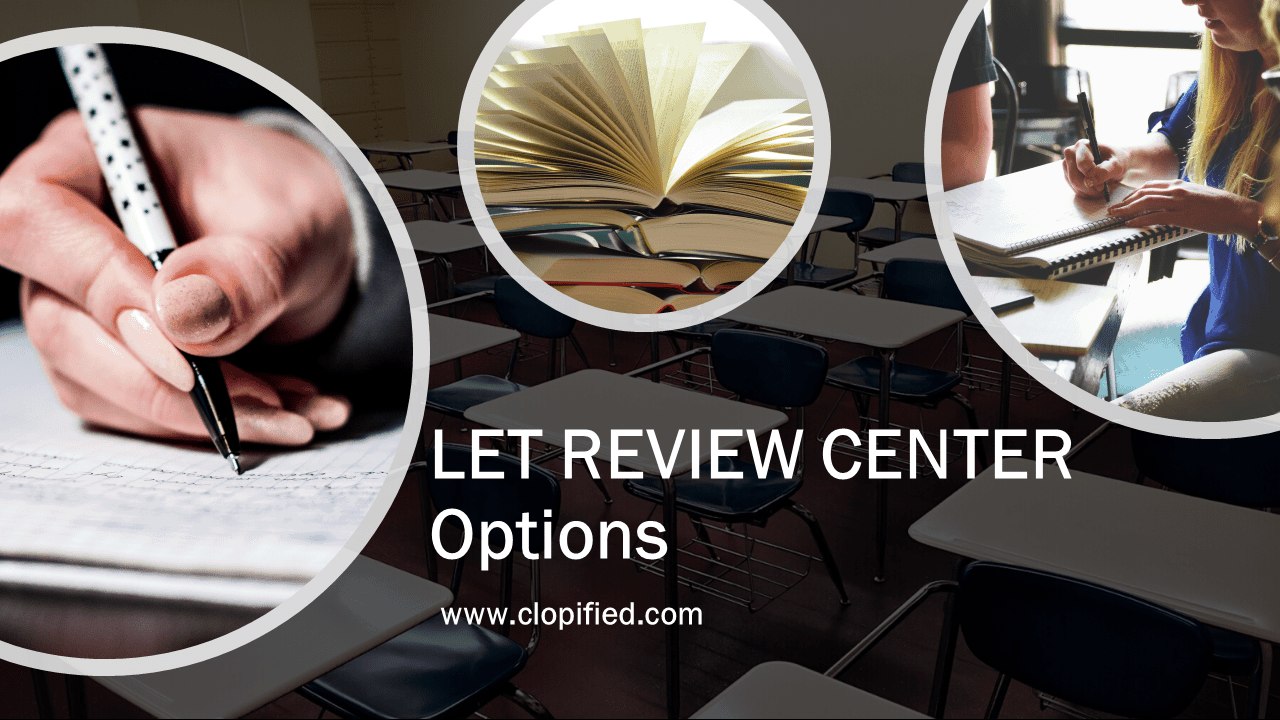 LET Review Center Options - Cover