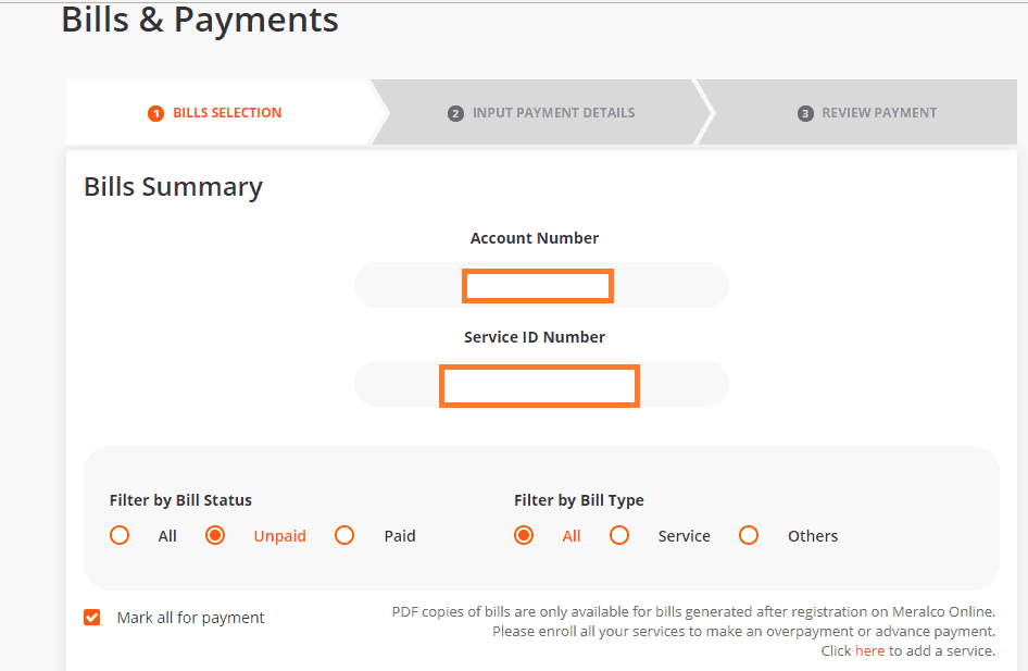 Register and Pay Meralco Bill Online - Step 1