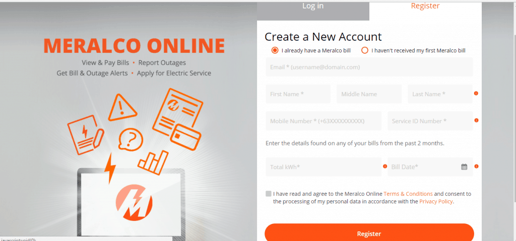 Register and Pay Meralco Bill Online using Credit card or Debit Card - Meralco Website