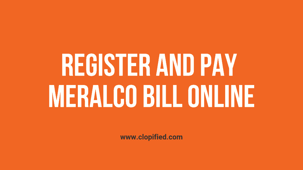 register and pay meralco bill online