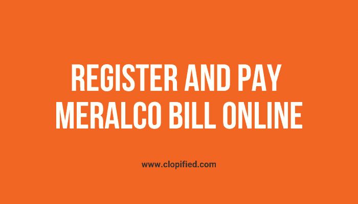 Register and Pay Meralco Bill Online using Credit Card or Debit Card