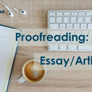 Proofreading: Essay/Article