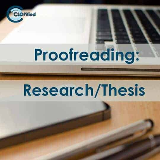 Proofreading: Research/Thesis